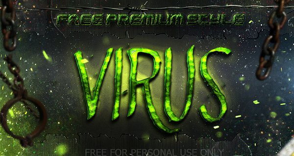 free virus photoshop style