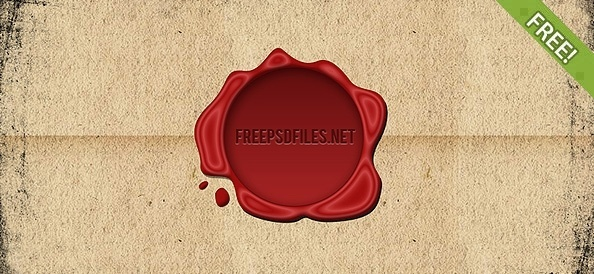 Free Wax Seal PSD file