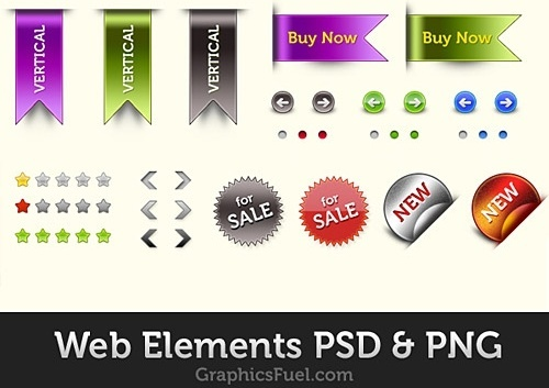 Free Web Elements PSD Pack