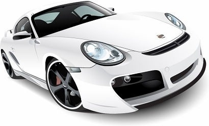 sport car model design realistic white sketch