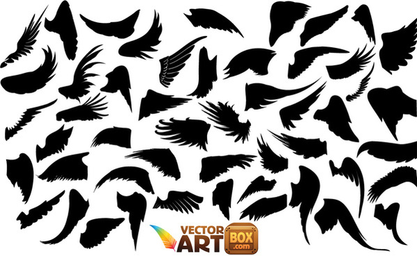 free vector graphics dragon wings silhouettes free vector download