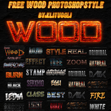 free wood photoshop style