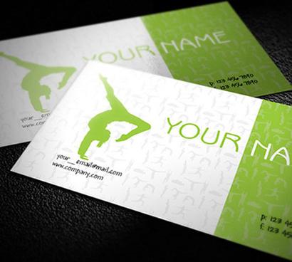 free yoga teacher business cards design