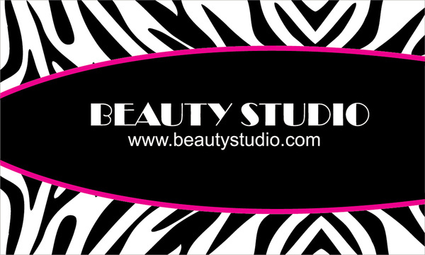 free zebra print business cards design