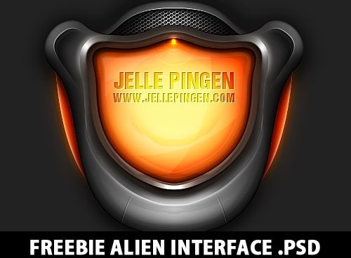 Freebie Alien Interface PSD