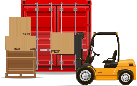 freight transportation vector