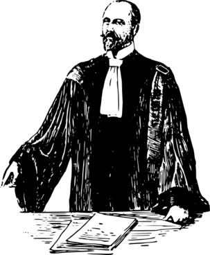French Lawyer Early Th Century clip art