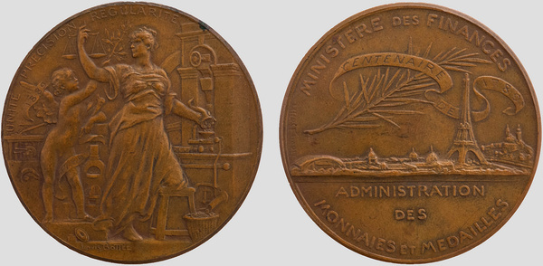 french revolution centennial medal exposition universelle of 1889