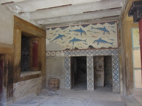fresco dolphins palace of knossos
