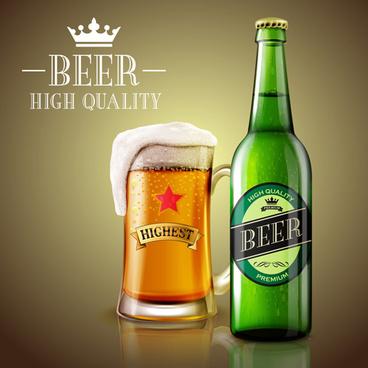 fresh beer creative design vector