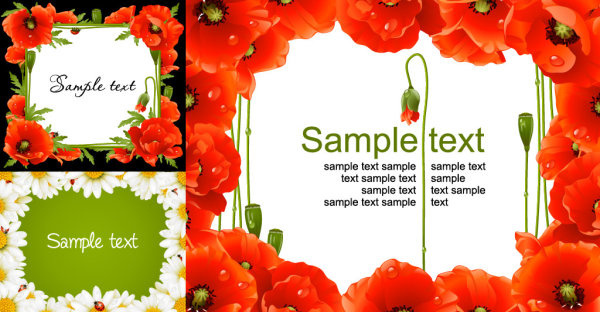 fresh border frames vector