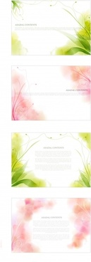 decorative background templates nature theme bright blurred decor