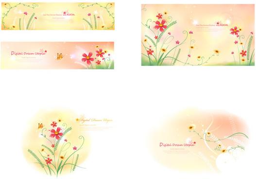 fresh flower background art vector