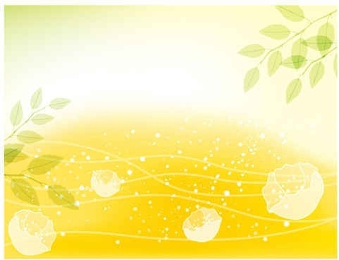 Fresh flowers background vector