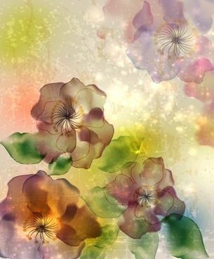 fresh flowers design vector art