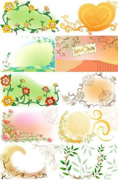 fresh flowers handpainted background vector artwork 3