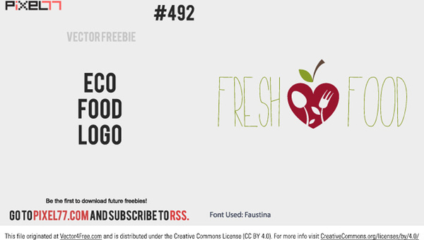 fresh food logo vector