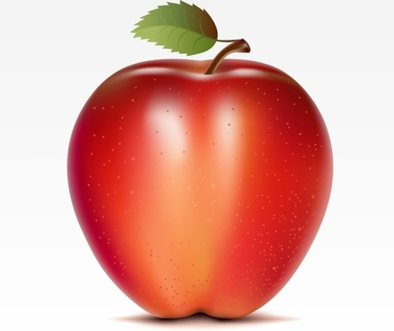 fresh fruit background red wet apple realistic design