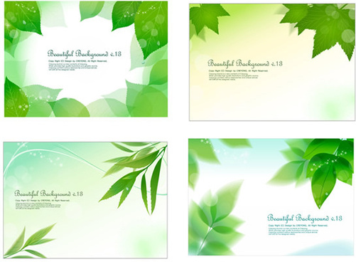fresh green background design elements