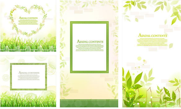 fresh green border vector