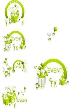 fresh green festival discount vector