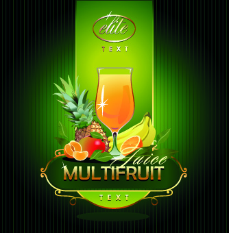fresh juice vector background