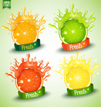 fresh orange juice creative design vector