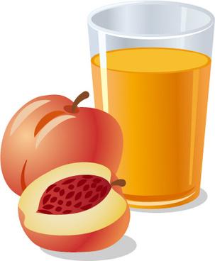 fresh peach juice vector design