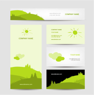fresh scenery card creative vector
