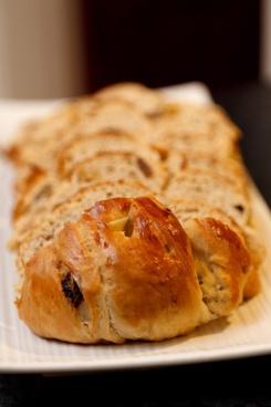 fresh sliced pastry
