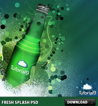 Fresh Splash Free PSD