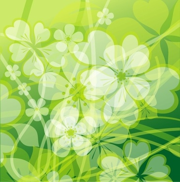 fresh summer flowers vector background 2 mirage