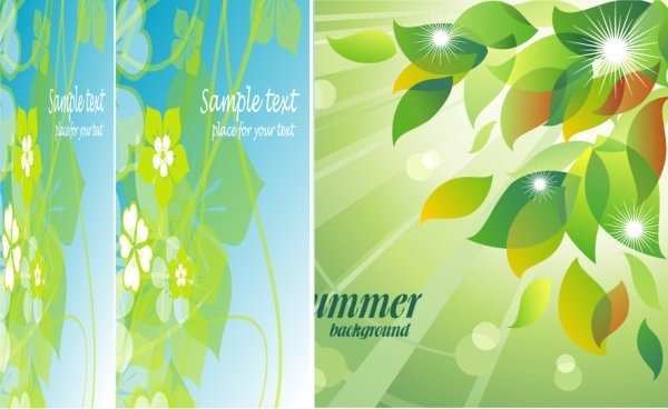 fresh summer flowers vector background 4 mirage