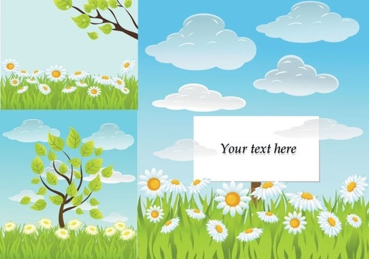 fresh summer vector background