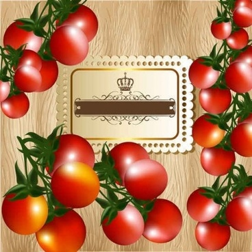 fresh tomatoes with background vecotr