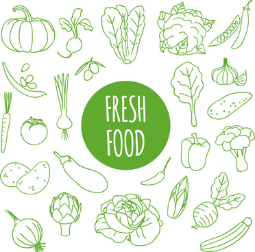 fresh vegetables seamless background vector
