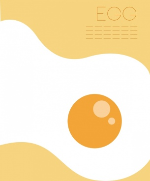 fried egg background bright flat design