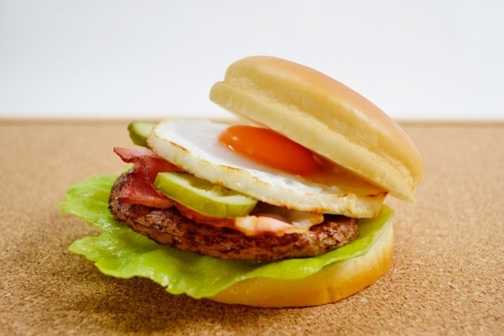 fried egg hamburger