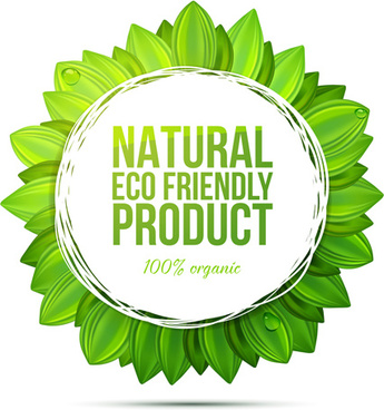friendly product green background vector