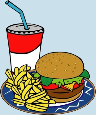 Fries Burger Soda Fast Food clip art