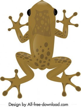 frog wild animal painting brown decor