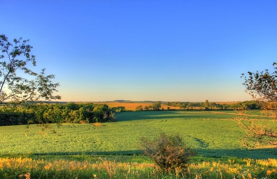 from the hilltop at charles mound illinois