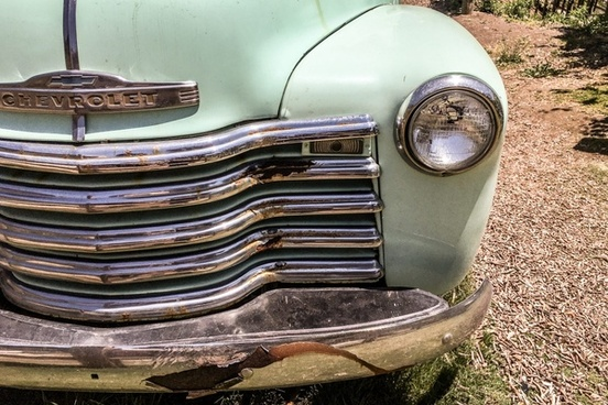 front grill of old chevrolet truck