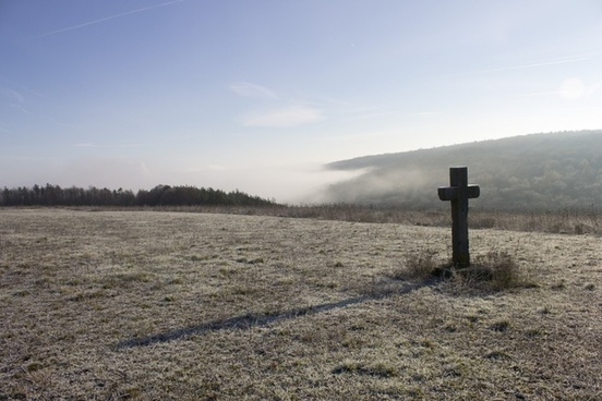 frost landscape cross