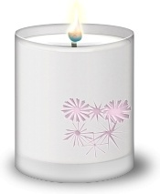 Frosted Glass Candle