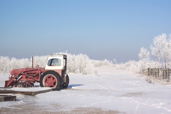 frosty day tractor