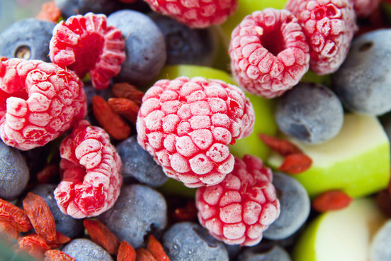 frozen blackberries fruits
