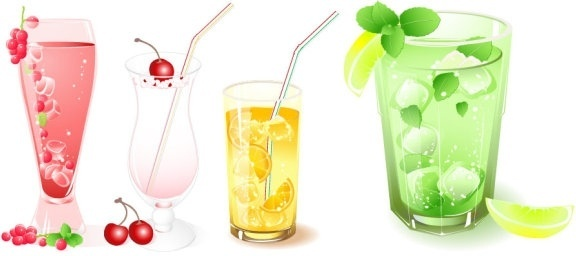 frozen drink vector