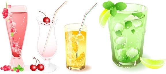 frozen drink vector