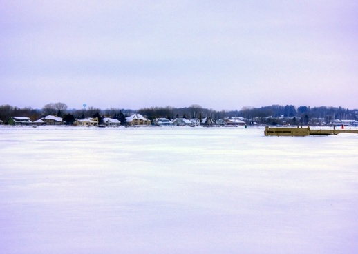 frozen inlet in sturgeon bay wisconsin